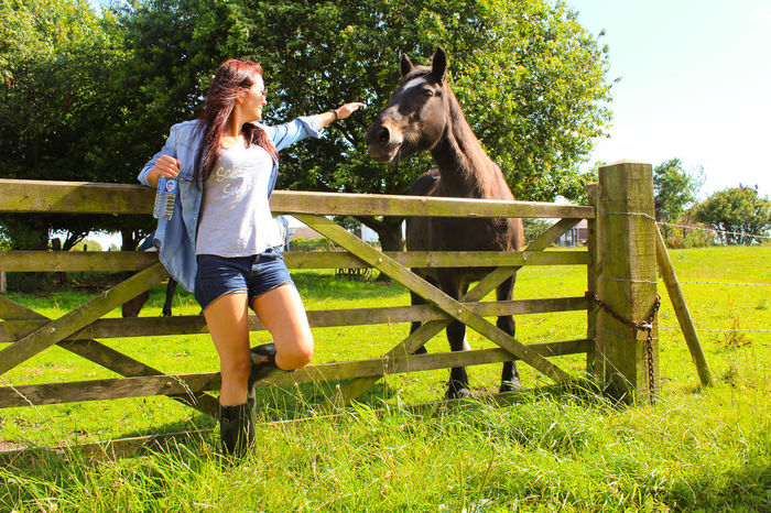 Horse Polish Uk Nature Grass Outdoors Happiness Only Women Nice Blue Sky Trip Horse Photography  Beauty In Nature Horse Photography  Haha Polish Woman Beauty Lifestyles Your Ticket To Europe