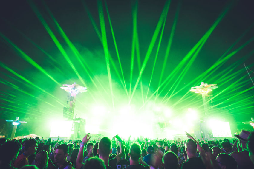 Euphoria Crowd Euphoria Festival Green Large Group Of People Laser Mainstage Music Night Nightlife People Performance Popular Music Concert Stage Light