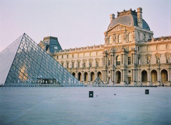 Musée du Louvre Pyramide Du Louvre Fuji400h Paris Film Photography Built Structure Architecture Building Exterior The Past History Sky Travel Destinations Building Tourism Travel Day No People City