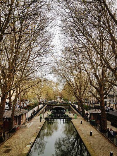 Footbridge over canal
