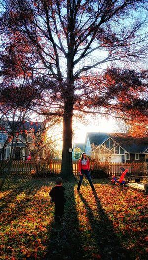 Fun autumn day outside. First Eyeem Photo Autumn Tree Outside Family