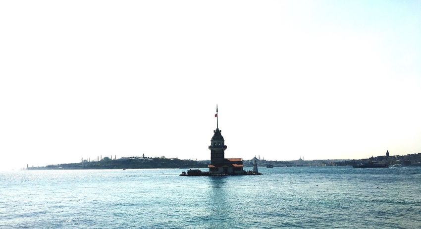 Kız Kulesi Maidenstower Travel Destinations Outdoors Clear Sky No People Sea Nature Water Architecture Sky City Istanbul Turkey Tranquil Scene Spirituality History Old Buildings Scenics EyeEmNewHere