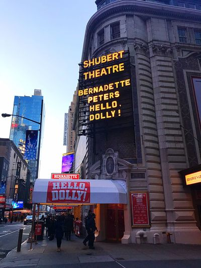 Theatre New York City Musicals Hello Dolly Musical Theatre Bernadette Peters New York