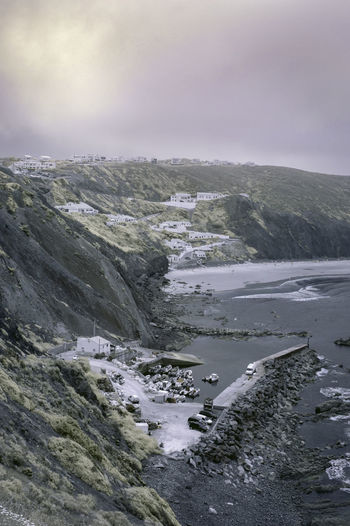 Beauty In Nature Coastline Coastline Colour Infrared Infrared Photography Nature Outdoors Scenics Sky Tranquil Scene Water