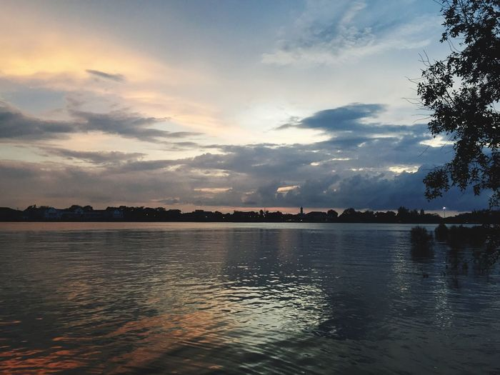 Sunset Sky Water Nature Scenics Beauty In Nature Waterfront Outdoors Check This Out Weekend Muar River 🐾👣