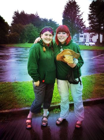 My daughter Tami (with the hat) and her friend Becky Parry Jones, off on expedition to morocco with outlook expeditions Girls' Time