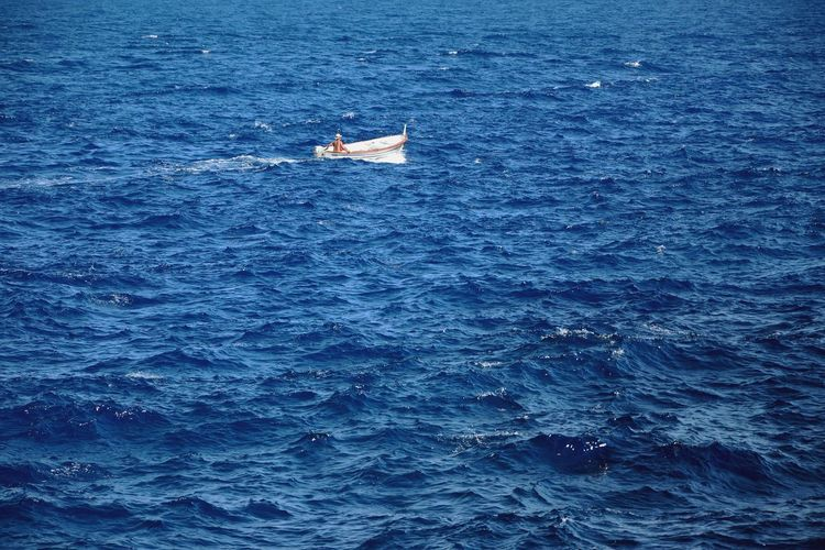Boat In Open Sea