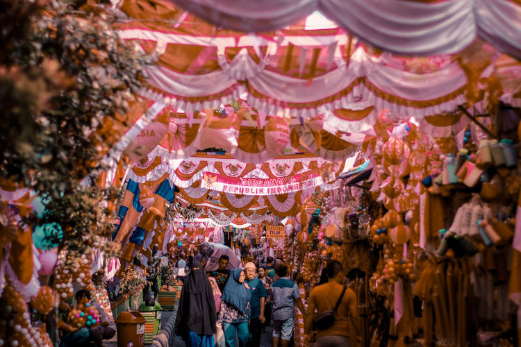 Tradisional market jatinegara, indonesia