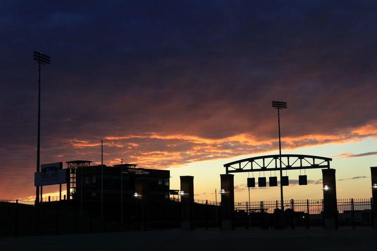 West Texas Football at sunset Stadium Gate Silhouette Sunset Sky Football Stadium West Texas Skies Stadium Sunset