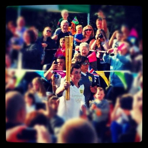 Finally I got to see the official London2012 Olympictorch in Harlow