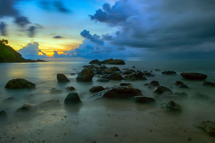 rock on the beach INDONESIA Beach Beauty In Nature Central Java Cloud - Sky Horizon Horizon Over Water Idyllic Indonesia_photography Land Long Exposure Mengantibeach Nature No People Outdoors Rock Rock - Object Scenics - Nature Sea Sky Solid Sunset Tranquil Scene Tranquility Water