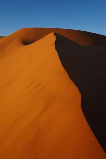 Morroco Erg Chebbi Desert Sand Dune Orange Sunset Nature Perfection