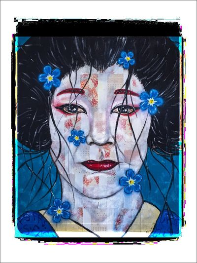 Geisha in blue Photographic Approximation Facial Experiments This Must Be My Dream In The Land Of Sunrise