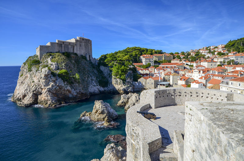 Magnificent Dubrovnik Croatia Dubrovnik Old Town Game Of Thrones King's Landing Turquoise Colored Adriatic Sea Architecture Blackwater Bay Built Structure City Day Dubrovnik Dubrovnik City Walls Fortress By The Sea Game Of Thrones Location Historical Fortress History Kingslanding Nature No People Red Keep Sea Sea Fortress Sky The Past