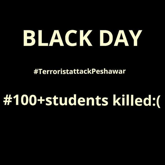 Blackday Children Killed Pakistan Peshawer Sad Day :( #militant attacted on Army Public school killed 124childrens and others...highly condamed :-( :'( :'(