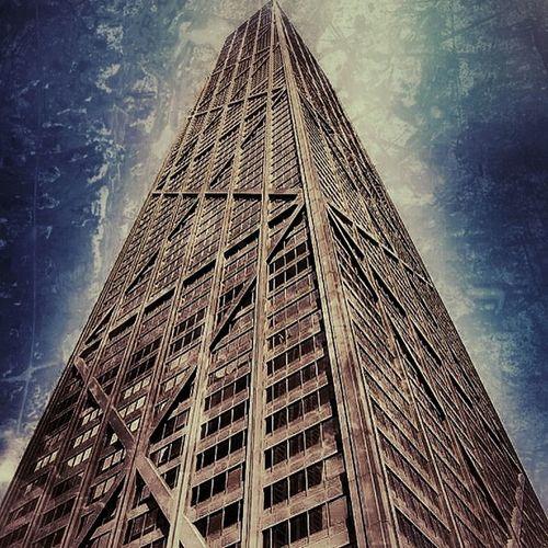 Hancock Tower (Chicago) #chicago #usa #hancock #skyscraper #city #town City Chicago Town USA Skyscraper Hancock
