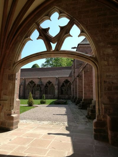 Cloister Middle Ages Cathedral Catholicism Lorraine ♡ Vosges Spring Midday Sunlight City Architectural Feature Colonnade
