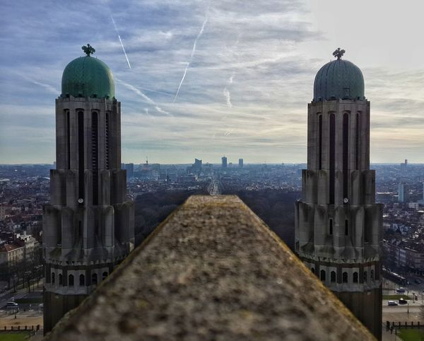 Architecture Built Structure Sky Cloud - Sky Cityscape Building Exterior Dome Day Outdoors Urban Skyline City Belgium Belgium♡ Beer Bruksel Road Calmness Peaceful