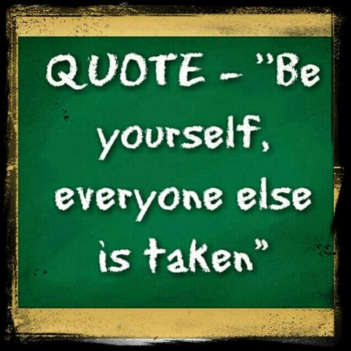 Quote - Just be yourself! Music Quote HipHop 2013 WorldlyShoutOuts