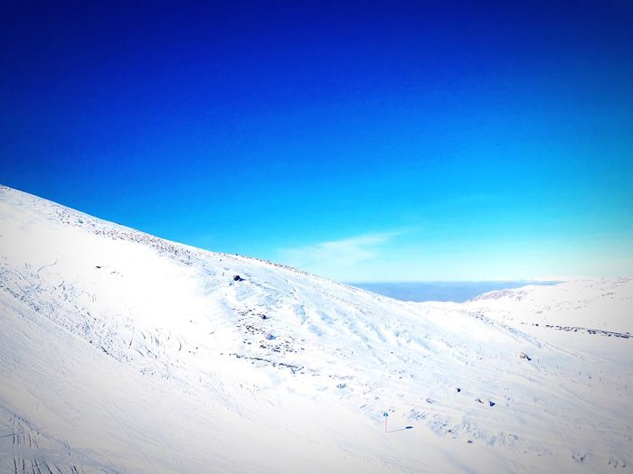 Kar Erciyes Mountain Sky Cold Temperature Blue Winter Snow Beauty In Nature Scenics - Nature Nature Landscape Tranquil Scene Tranquility Day No People Environment Mountain Land Copy Space White Color Clear Sky Outdoors My Best Photo My Best Photo