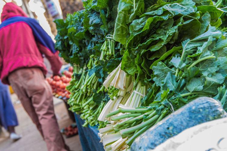 Fresh vegetables for sale in market