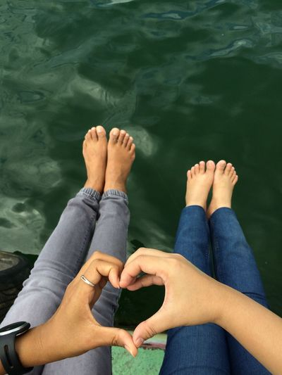 Spread the love Traveling Traveler Happy Vacations Heart Shape Love EyeEm Selects Human Body Part Human Leg Body Part Low Section barefoot Personal Perspective Water High Angle View Relaxation Women Adult Human Foot Lifestyles Leisure Activity People Jeans Real People Human Limb Nature Limb