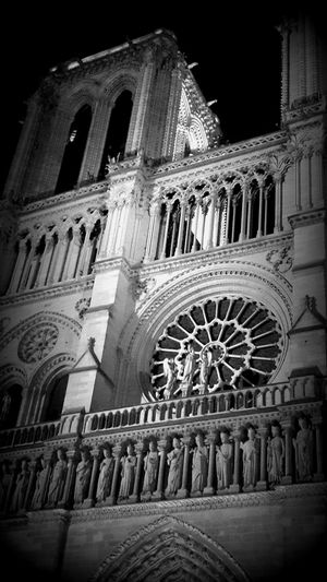 Architectural Detail Architecture Architecture Lovers Architecture Photography Architecture_collection Atmosphere Cathedral Church Architecture Famous Place France Illuminated Monument Night Nightphotography Notre Dame De Paris Religion And Beliefs Spirituality Symbolism