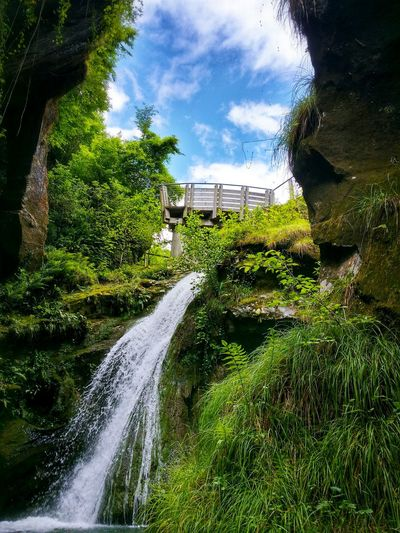 Caglieron Caves Fregona Treviso Veneto Italy Travel Photography Travel Voyage Traveling Mobile Photography Fine Art Backlight Nature Scenic Landscapes Lush Gorges Access Trails Water Streams Waterfalls Walkways  Cloudy Sky Backgrounds Fine Art Photography Showcase July