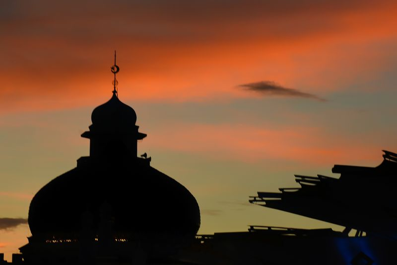 Baiturrahman grand aceh mosque Aceh Tourism Silhouette Sunset Sky Orange Color Architecture Built Structure Place Of Worship Belief Building Exterior Cloud - Sky Spirituality Religion No People Dome Nature Building History The Past Spire