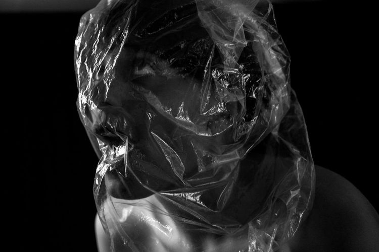 D. A. P. Anxiety Disorder Anxietyattack Black & White Black Background Blackandwhite Close-up Concettuale Day Indoors  One Person Panic Attack People Portrait Photography Studio Shot Surrealist Art Woman Portrait Women First Eyeem Photo