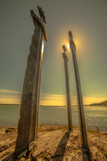 Fjordsofnorway Monuments Norway Statue Stavanger Norway Sunlight Swords Beach Day Fjord Fjørd Hafrsfjord Horizon Horizon Over Water Nature Outdoors Scenics Sea Sky Sun Sunlight And Shadow