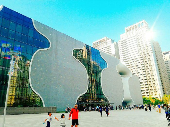 Building Exterior Sun Sky 臺中歌劇院 Taiwan