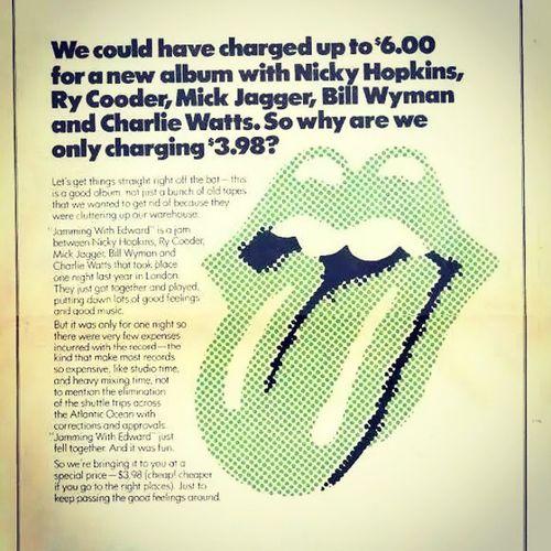 Blimey ! Jammingwithedward Nickyhopkins Rycooder Billwyman Charliewatts Mickjagger Rollingstones