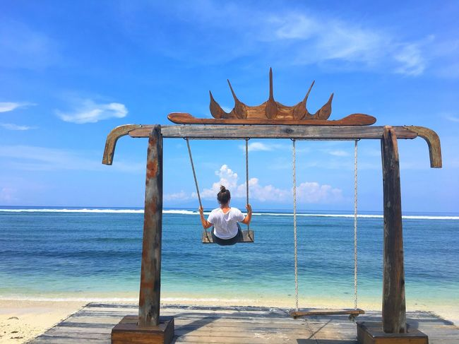 Sea Sky Full Length Horizon Over Water Real People Water Beach Lifestyles Leisure Activity Outdoors Cloud - Sky Day Men Nature One Person Beauty In Nature No People Beauty In Nature INDONESIA My Year My View