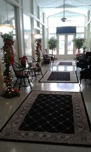 Decorated foyer Decorated Foyer Christmas Decorations Christmas Time Beautiful Job Lights Reflections Christmas Party Hotel Jacaranda At The Jac Historical Building Hotel Avon Park Florida