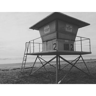 Greyscale. LifeguardTower Beach Downtown Blackandwhite GreyScaleVscoVscoCamxperiazSaraBuyMeMyCameraloljkPotdmondayOceansidehome