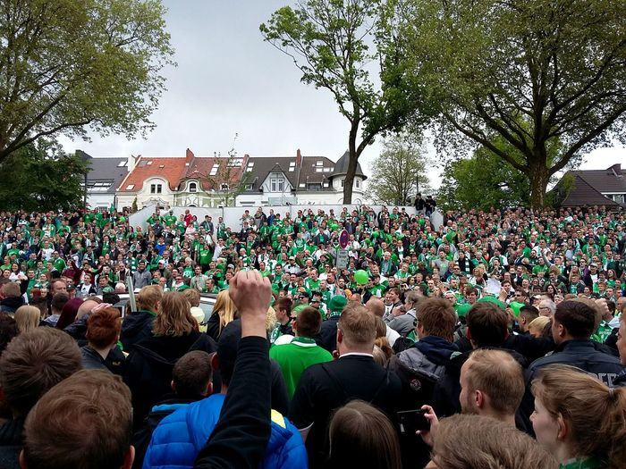 Werder Bremen Fans Waiting for the Team. (Some Delayed photos.) · Bremen Germany Werder Fussball Football Real Football Soccer People Group Masses Anticipation