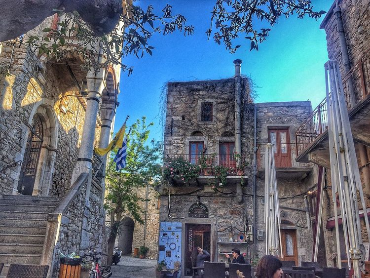 Architecture Built Structure Building Exterior History Day Low Angle View Outdoors No People Sky Tree Church Greekflag