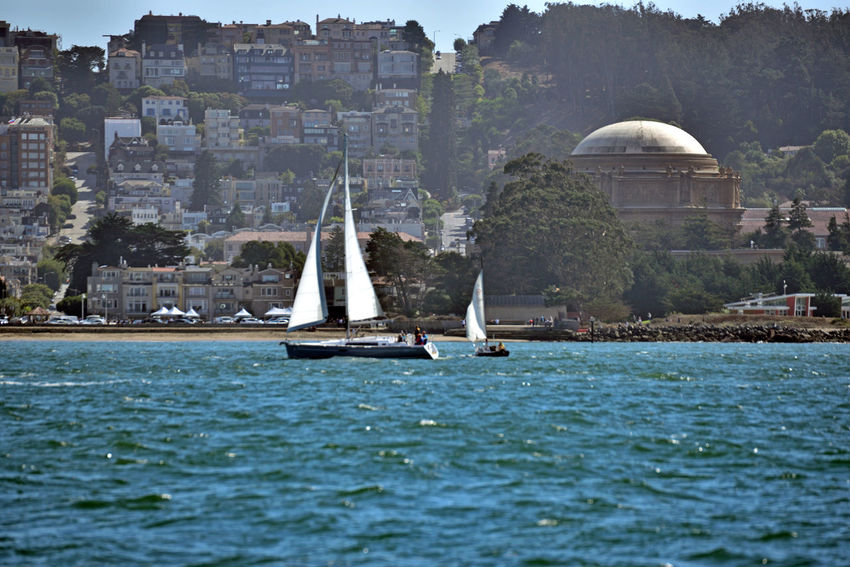 Palace of Fine Arts 4 San Francisco CA🇺🇸 Sailing Aboard The Alma San Francisco Bay Museum Marina District Architecture_collection Architecture Architectural Detail Inspired By Roman & Ancient Greek Architecture Bayview Constucted 1915 Panama -Pacific Exposition Rebuilt 1965 Seismic Retrofitted 2009 Sailboats Hills Of San Francisco City Streets  Housing Landscape_Collection Landscape_photography Dome Palace Of Fine Arts National Register Of Historic Places