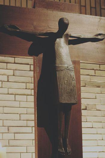 Jesuscristo Jesus Christ Jesus Take Me To Church Holy Cross Holycross Creative Light And Shadow Shadow At Church Jesuschrist Cross Brick Wall Brickwall Light And Shadow Vintage