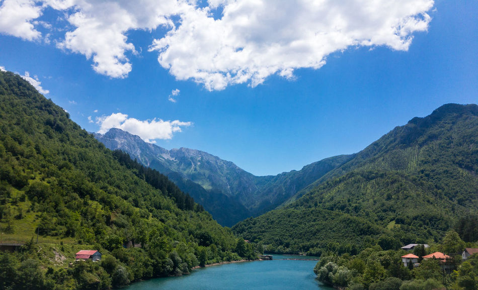 Landscape scene of canyon of river on sunny day Beauty In Nature Blue Bosnia And Herzegovina Canyon Cloud - Sky Day Forest Landscape Mountain Mountain Range Nature Neretva No People Outdoor Outdoors River Scenic Scenics Sky Tranquil Scene Tranquility Travel Water