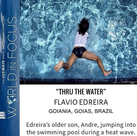 """Very Happy that my photography """"Thru the Water"""" is among the finalists of the World in Focus PDN Magazine Contest, and it will be in the next month PDN magazine Photo gallery! Showcase: December Pdnonline PDN Worldinfocus Photocontest Photocomposition From Above  My Son Artphotography Goiânia Brazil"""