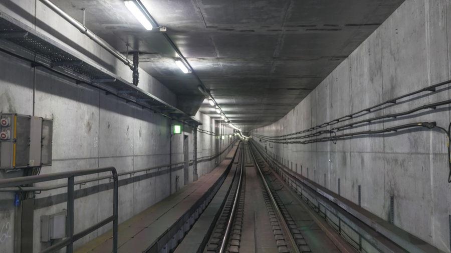 Interior Of Railroad Tunnel