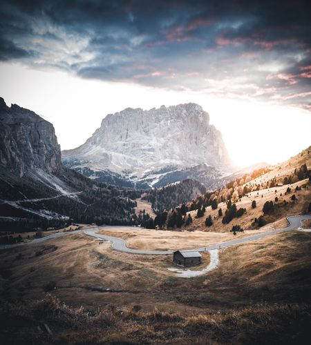 Italian views Southtyrol  Dolomites Sky Cloud - Sky Mountain Scenics - Nature Beauty In Nature Nature Tranquility Tranquil Scene Environment No People Winter Snow Mountain Range Landscape Non-urban Scene Cold Temperature Day Idyllic Land Outdoors
