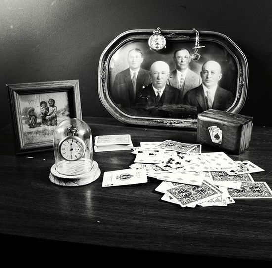 Gambling with Time. Pictureinpicture Photos Playingcards Pocketwathes Old Nostalgia Bnw Blackandwhite Blackandwhitephotography Bnw_life Bnw_society Bnw_captures Nikon D3300 Bnw_rose
