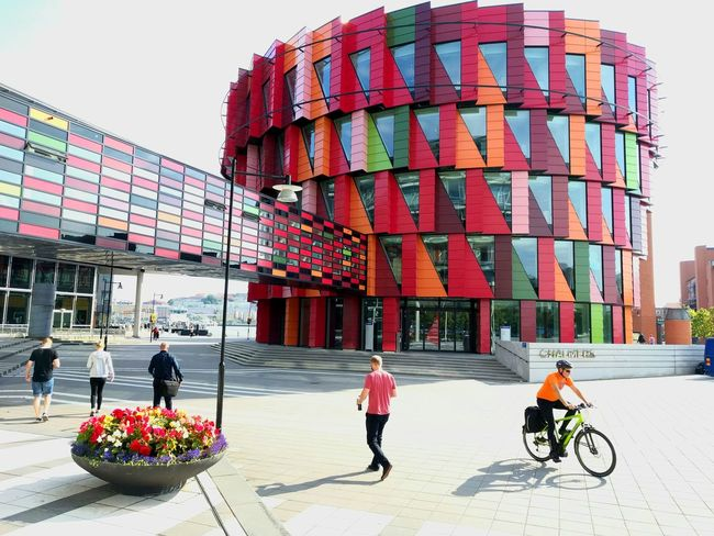 Lindholmen Science Park, Gothenburg, Sweden Sciencepark Incubator  Architecture Design Colorful People Multi Colored Outdoors Day Sky Architectureporn Amature Amaturephotography EyeEmNewHere Siliconvalley Art ArtWork Daily Dailyphoto Sweden Gothenburg Zen Mindful Atwork Hub EyeEmNewHere