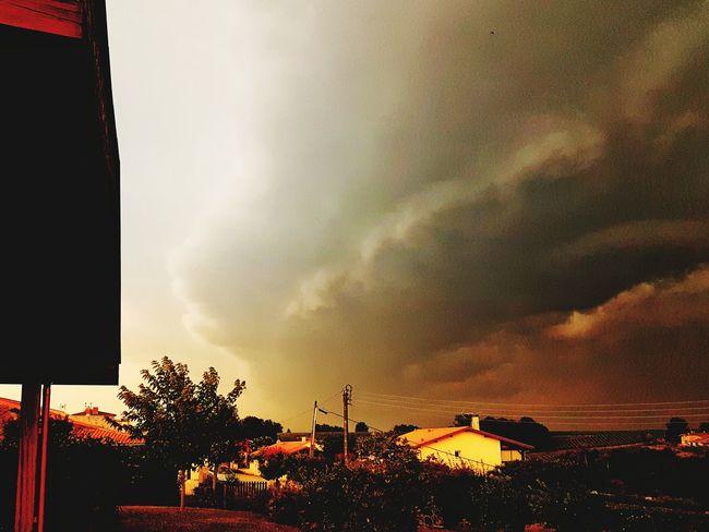 Sunset Sunset_collection Landsape Tree Building Exterior Architecture Cloud - Sky Built Structure Dramatic Sky Storm Cloud Storm