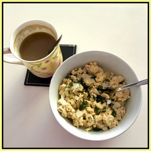 Breakfast 🍴☕️🍲🍳👌🏼 Breakfast Meal Startingtheday Scrambledeggs Coffee☕ Yummy Brandnewday Foodbeforework Ready-to-eat