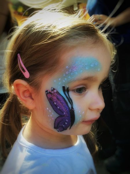 Portrait Color Portrait Portraits My Daughter Daughter Face Painting Butterfly