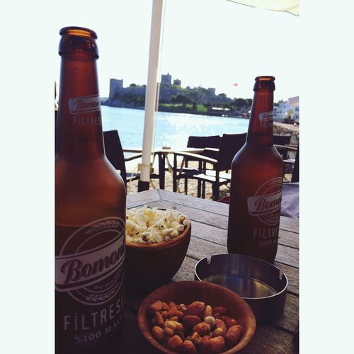 Drink Alcohol Beer - Alcohol Beer Sun Sea Photo Colorful EyeEm Gallery EyeEm Popcorns Light Bodrumkalesi Castle